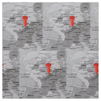 Map Fabric Zazzle - Paris map fabric
