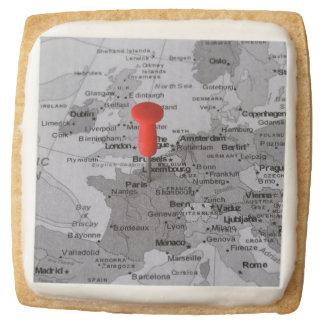 Paris on the Map Square Premium Shortbread Cookie