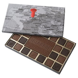Paris on the Map 45 Piece Assorted Chocolate Box