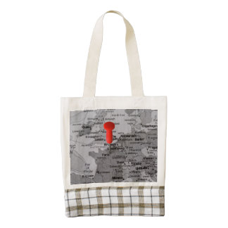 Paris on the Map Zazzle HEART Tote Bag