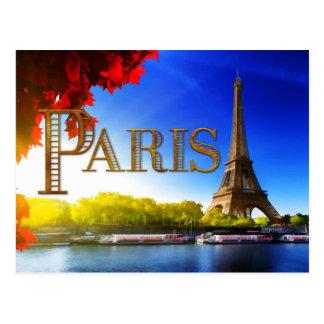 Paris on the Seine Postcard
