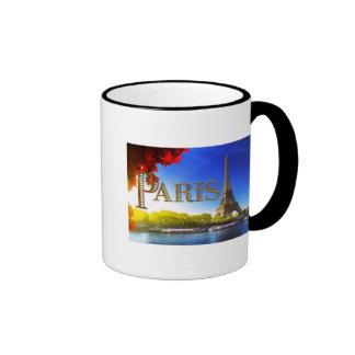 Paris on the Seine Ringer Mug