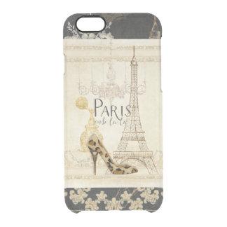 Paris ooh la la Fashion Eiffel Tower Chandelier Clear iPhone 6/6S Case