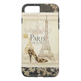 Paris ooh la la Fashion Eiffel Tower Chandelier iPhone 8 Plus/7 Plus Case