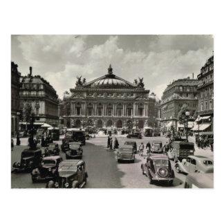París, Opera, 1930 Tarjeta Postal