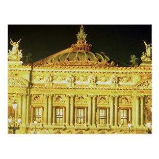Paris Opera House at night, France Postcard