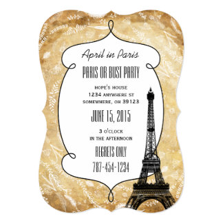 Paris or Bust Party Invitations