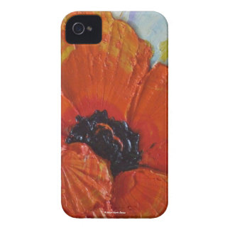 Paris' Orange Poppy Blackberry Case
