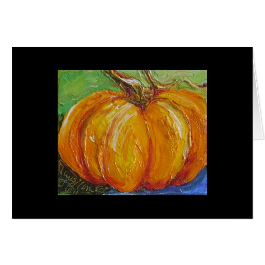 Paris' Orange Pumpkin Card