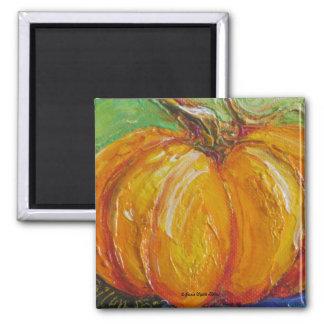Paris' Orange Pumpkin Magnet