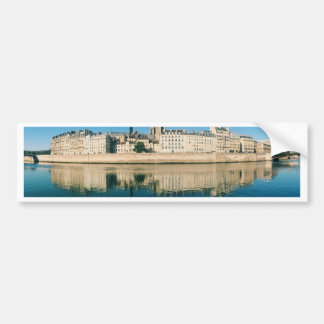 Paris Panorama - Ile Saint Louis Bumper Sticker