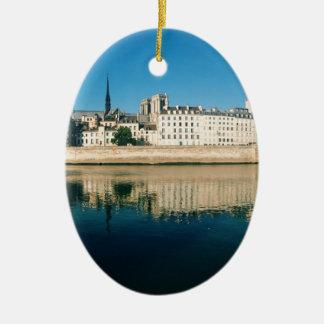 Paris Panorama - Ile Saint Louis Ceramic Ornament