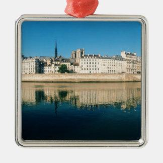 Paris Panorama - Ile Saint Louis Metal Ornament