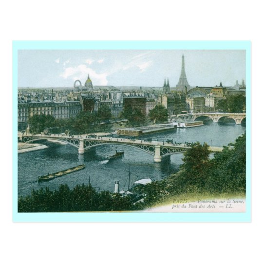 Paris Panorama Vintage Postcard