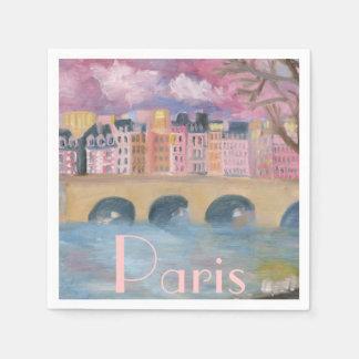 Paris paper napkins