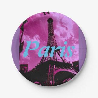 Paris Paper Plate