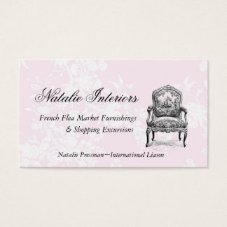 Paris Paris Elegant French Flea Market Chair Business Card