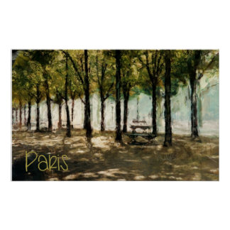 Paris Park on Avenue des Champs-Elysees (HUGE) Poster