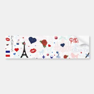 Paris pattern with Eiffel Tower Bumper Sticker