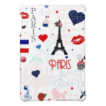 Paris pattern with Eiffel Tower Cover For The iPad Mini