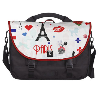 Paris pattern with Eiffel Tower Computer Bag