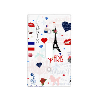 Paris pattern with Eiffel Tower Light Switch Cover