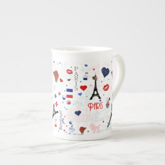 Paris pattern with Eiffel Tower Tea Cup