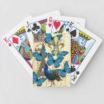 París, pavo real y mariposas barajas de cartas