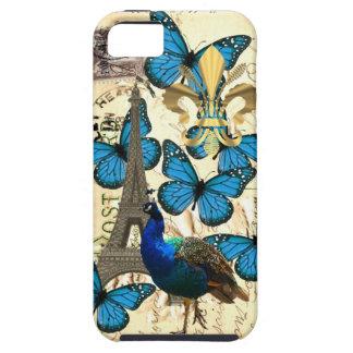 Paris, peacock and butterflies iPhone SE/5/5s case