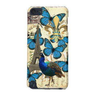 Paris, peacock and butterflies iPod touch 5G cover