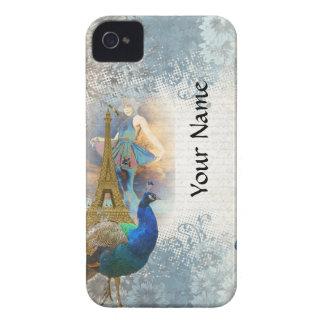 Paris peacock collage iPhone 4 cover