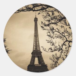 París Pegatina Redonda