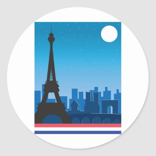París Pegatinas Redondas