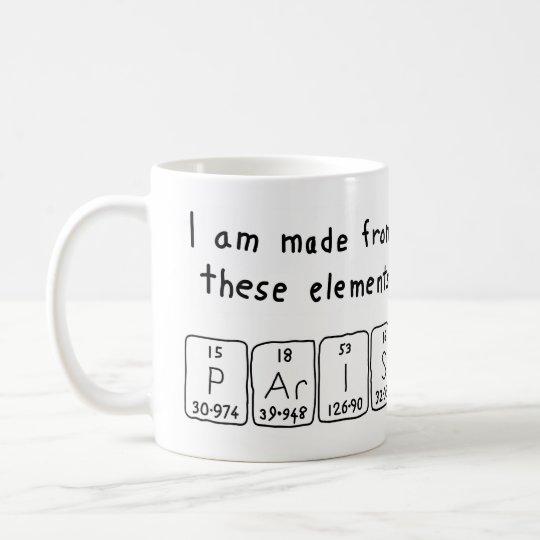 Paris periodic table name mug