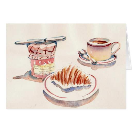 Paris Petit Dejeuner Greeting Card Zazzle