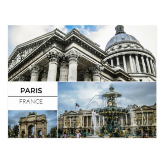 Paris Photo Collage Postcard