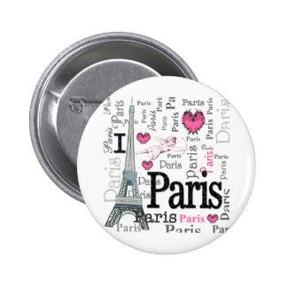 París Pin Redondo De 2 Pulgadas