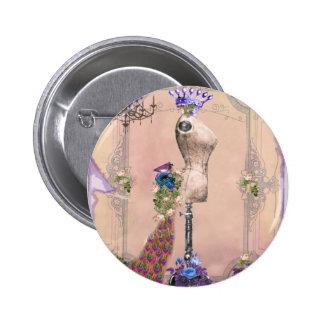 Paris Pink Pinback Button