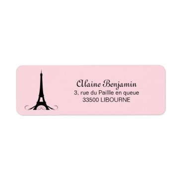 heartlocked Paris Pink Eiffel Tower Label