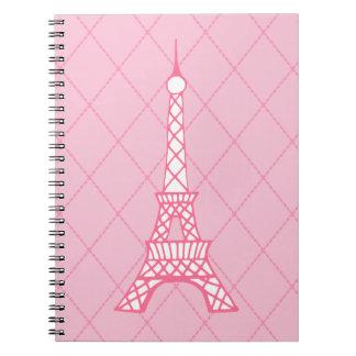 Paris Pink Eiffel Tower Student Class Notebook