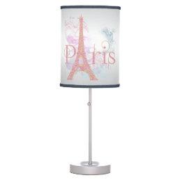 Paris Pink Glitter Eiffel Tower Desk Lamp