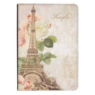 Paris Pink Rose Damask Vintage Personalized Kindle Kindle 4 Cover