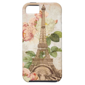 Paris Pink Rose Vintage Phone Case iPhone 5 Cover