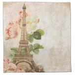 Paris Pink Rose Vintage Romantic Napkins