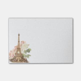 Paris Pink Rose Vintage Romantic Post-it Notes