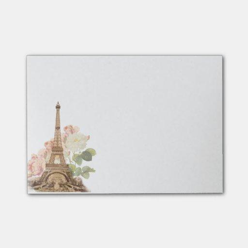 Paris Pink Rose Vintage Romantic Post-it Notes Post-it® Notes