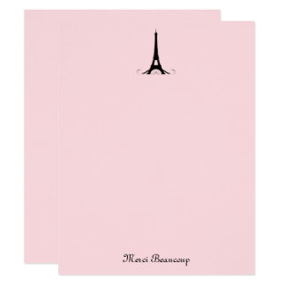 Paris Pink Thank You Note Cards