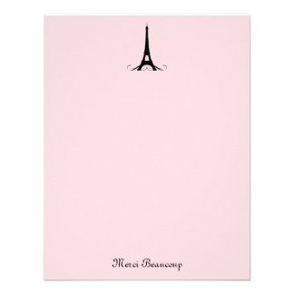 Paris Pink Thank You Note Cards Custom Announcements