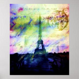 París pintada colorida poster
