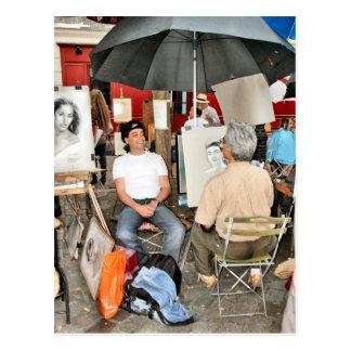 Paris, Place de Theatre, Montmatre 4 Postcard